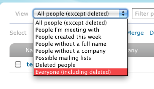 6: Select Everyone (including deleted)